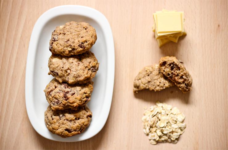 Škoricové cookies s vločkami