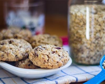 Vločkové cookies s čokoládou
