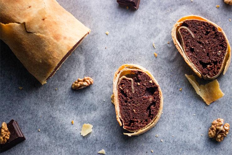 Čokoládová štrúdľa