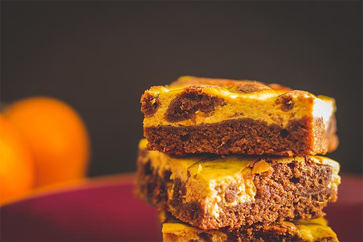 Tekvicové mramorové brownies